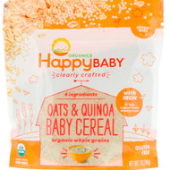 3 PACK OF Happy Family Organics, Organics, Clearly Crafted, Oats & Quinoa Baby Cereal, 7 oz (198 g)