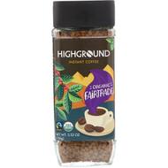 3 PACK OF Highground Coffee, Organic Instant Coffee, Medium, 3.53 oz (100 g)