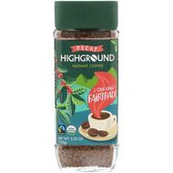 3 PACK OF Highground Coffee, Organic Instant Coffee, Medium, Decaf, 3.53 oz (100 g)
