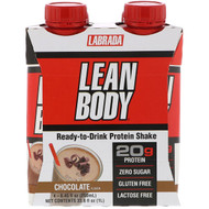 3 PACK OF Labrada Nutrition, Lean Body, Ready-to-Drink Protein Shake, Chocolate, 4 Shakes, 8.45 fl oz (250 ml) Each