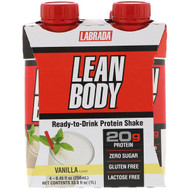 3 PACK OF Labrada Nutrition, Lean Body, Ready-to-Drink Protein Shake, Vanilla, 4 Shakes, 8.45 fl oz (250 ml) Each