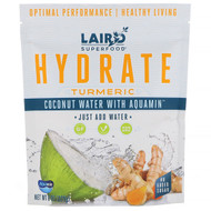 3 PACK OF Laird Superfood, Hydrate, Turmeric, Coconut Water with Aquamin, 8 oz (227 g)