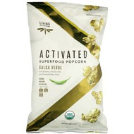 3 PACK OF Living Intentions, Activated, Superfood Popcorn, Salsa Verde, 4 oz (113 g)