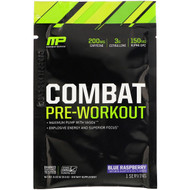 3 PACK OF MusclePharm, Combat Pre-Workout, Blue Raspberry, 0.33 oz (9.3 g) Trial Size