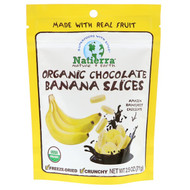 3 PACK OF Natierra, Organic Freeze-Dried, Chocolate Banana Slices, 2.5 oz (71 g)