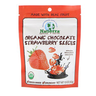 3 PACK OF Natierra, Organic Freeze-Dried, Chocolate Strawberry Slices, 1.5 oz (43 g)