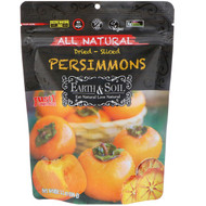 3 PACK OF Natures Wild Organic, Earth & Soil, All Natural, Dried-Sliced Persimmons, 3.5 oz (100 g)