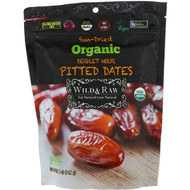3 PACK OF Natures Wild Organic, Wild & Raw, Sun-Dried, Organic Deglet Noor Pitted Dates, 5 oz (142 g)