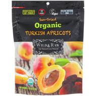 3 PACK OF Natures Wild Organic, Wild & Raw, Sun-Dried, Organic Turkish Apricots, 5 oz (142 g)