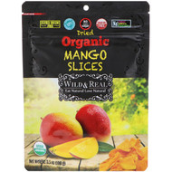 3 PACK OF Natures Wild Organic, Wild & Real, Dried, Organic Mango Slices, 3.5 oz (100 g)