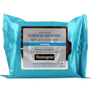 3 PACK OF Neutrogena, Makeup Remover Cleansing Towelettes, Hydrating, 25 Pre-Moistened Towelettes