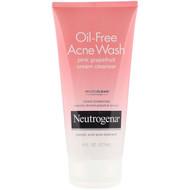 3 PACK OF Neutrogena, Oil-Free Acne Wash, Pink Grapefruit Cream Cleanser, 6 fl oz (177 ml)