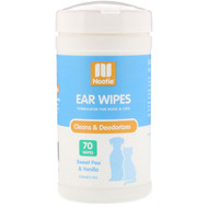 3 PACK OF Nootie, Ear Wipes, For Dogs & Cats, Sweet Pea & Vanilla, 70 Wipes