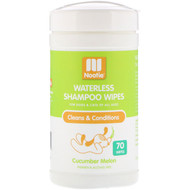 Nootie, Waterless Shampoo Wipes, For Dogs & Cats, Cucumber Melon, 70 Wipes