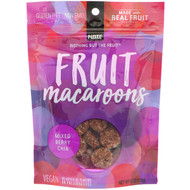3 PACK OF Nothing But The Fruit, Fruit Macaroons, Mixed Berry Chia,  4 oz (113 g)