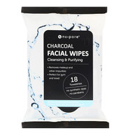 3 PACK of Nu-Pore, Charcoal Facial Wipes, 18 Pre-Moistened Towelettes