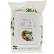 3 PACK OF Nu-Pore, Hydrating Makeup Remover, Coconut Essence, 20 Wipes
