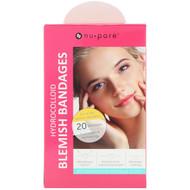3 PACK of Nu-Pore, Hydrocolloid Blemish Bandages for Raised, Yellow Blemishes, 20 Bandages