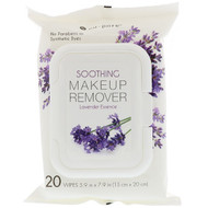 3 PACK OF Nu-Pore, Soothing Makeup Remover, Lavender Essence, 20 Wipes