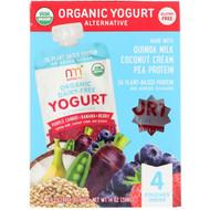 3 PACK OF NurturMe, Organic Yogurt Alternative, Purple Carrot + Banana + Berry, 4 Pouches, 3.5 oz (99 g) Each