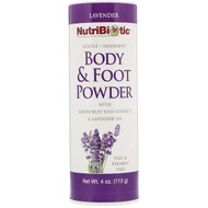 3 PACK OF NutriBiotic, Body & Foot Powder with Grapefruit Seed Extract & Lavender Oil, Lavender, 4 oz (113 g)