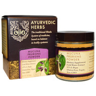 3 PACK OF Ojio, Ayurvedic Herbs, Mucuna Pruriens Powder, 2 oz (56 g)