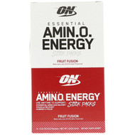 3 PACK OF Optimum Nutrition, Essential Amin.O. Energy, Fruit Fusion, 6 Stick Packs, .31 oz (9 g) Each