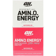3 PACK OF Optimum Nutrition, Essential Amino Energy, Watermelon, 6 Stick Packs, 0.31 oz (9 g) Each