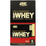 3 PACK OF Optimum Nutrition, Gold Standard 100% Whey, Vanilla Ice Cream, 6 Packs, 1.09 oz (31 g) Each