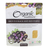 3 PACK OF Organic Traditions, Maca X-6 Black and Red-Purple, 5.3 oz (150 g)