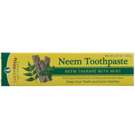 3 PACK OF Organix South, TheraNeem Naturals, Neem Therap? with Mint, Neem Toothpaste, 0.7 oz (20 g)