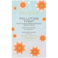 Pacifica, Pollution Fight, Blue Algae Urban Defense Facial Mask, 1 Mask, 0.67 fl oz (20 ml)