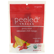 3 PACK OF Peeled Snacks, Gently Dried, Organic, Chili Mango, 2.8 oz (80 g)