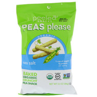 3 PACK of Peeled Snacks, Peas Please, Organic, Sea Salt, 3.3 oz (94 g)