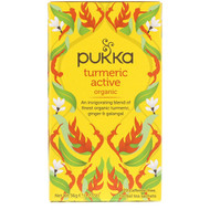 3 PACK OF Pukka Herbs, Organic Turmeric Active, Caffeine Free, 20 Herbal Tea Sachets, 1.27 oz (36 g)
