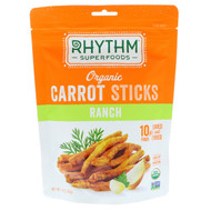 3 PACK OF Rhythm Superfoods, Organic Carrot Sticks, Ranch, 1.4 oz (40 g)