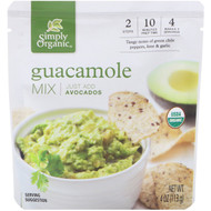 3 PACK OF Simply Organic, Organic Guacamole Mix, 4 oz (113 g)