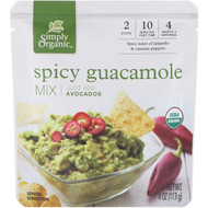 3 PACK OF Simply Organic, Organic Spicy Guacamole Mix, 4 oz (113 g)