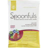 3 PACK OF Solgar, Spoonfuls, Vegan Protein Nutritional Shake, Mixed Berry, 1.4 oz (42 g)