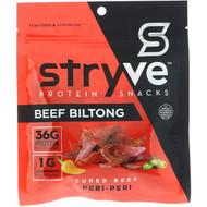 3 PACK OF Stryve Foods, Beef Biltong, Air-Dried Beef Slices, Spicy Peri Peri, 2.25 oz (64 g)