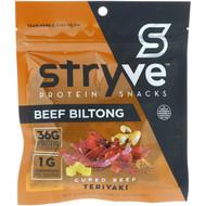 3 PACK OF Stryve Foods, Protein Snacks Beef Biltong, Teriyaki, 2.25 oz (64 g)