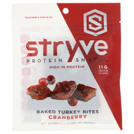 3 PACK OF Stryve Foods, Protein Snacks, Baked Turkey Bites, Cranberry, 2.5 oz (70 g)
