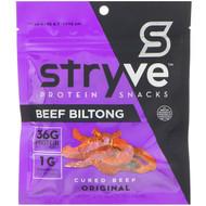 3 PACK of Stryve Foods, Biltong Snacks, Sliced Beef Biltong, Original, 2.25 oz (64 g)