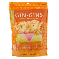 3 PACK OF The Ginger People, Gin Gins, Ginger Spice Drops, Sweet Ginger, 3.5 oz (100 g)