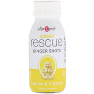 The Ginger People, Ginger Rescue Shots, Lemon & Cayenne, 2 fl oz (60 ml)