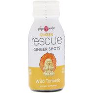 3 PACK OF The Ginger People, Ginger Rescue Shots, Wild Turmeric, 2 fl oz (60 ml)