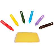 3 PACK OF Tolo Toys, Tolo Splash, Bath Time Crayons, Plus Sponge, 2+ Years, 9 Crayons Plus Sponge
