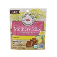 Traditional Medicinals, Organic, Mothers Milk, Lemon, 14 Individually Wrapped Chews, 2.52 oz (71.4 g)