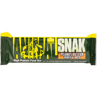 3 PACK OF Universal Nutrition, Animal Snak Bar, Peanut Butter Honey & Oats, 1 Bar, 3.3 oz (93.6 g)