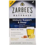 3 PACK OF Zarbees, Naturals, Immune Support & Sleep Drink Mix, Natural Lemon Citrus Flavor, 10 Packets, 3.6 oz (102 g)